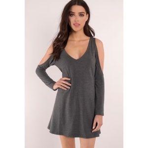 Tobi Grey Cold Shoulder Dress - Size M